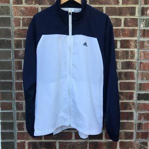 Adidas Blue & White Zip up Athletic Jacket Sz M
